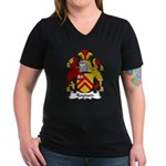 Reynard Family Crest Women's V-Neck Dark T-Shirt