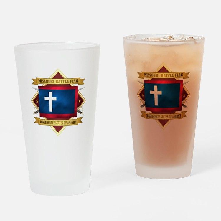 Missouri Battle Flag Drinking Glass