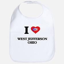 I love West Jefferson Ohio Bib
