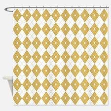 Argyle: Misted Yellow Shower Curtain