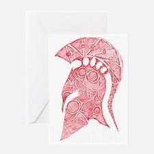 Spartan Helmet Sketch Greeting Card