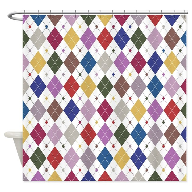 Argyle: Orchid Multi Shower Curtain by TheBestPatterns