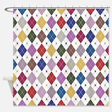 Argyle: Orchid Multi Shower Curtain