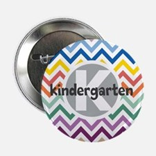 "Custom Monogram with Chevrons 2.25"" Button (100 pa"