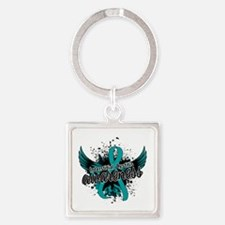 Interstitial Cystitis Awareness 16 Square Keychain