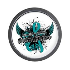 Interstitial Cystitis Awareness 16 Wall Clock