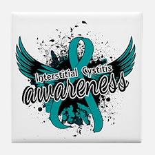 Interstitial Cystitis Awareness 16 Tile Coaster