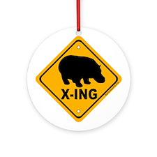 Hippo X-ing Ornament (Round)