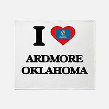 I love Ardmore Oklahoma Throw Blanket