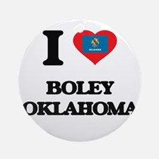 I love Boley Oklahoma Ornament (Round)
