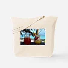 Beachy Cocktails Tote Bag