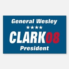 WESLEY CLARK PRESIDENT 08 Rectangle Decal