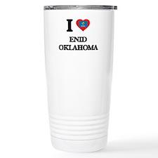 I love Enid Oklahoma Travel Mug