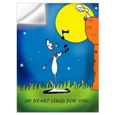 My heart sings for you Wall Decal
