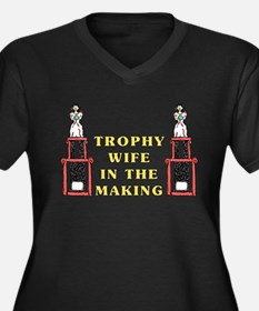 Trophy Wife Engagement Women's Plus Size V-Neck Da