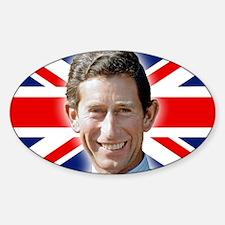 Patriotic! HRH Prince Charles Sticker (Oval)