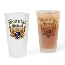 Bosnian Patriot Drinking Glass