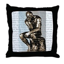 Rodin Thinker - Throw Pillow