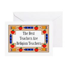 The Best Teachers Are Religion Teachers Greeting C