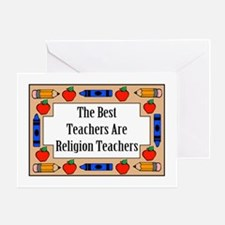 The Best Teachers Are Religion Teachers Greeting C