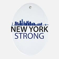 New York Strong - Skyline Ornament (Oval)