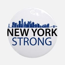 New York Strong - Skyline Ornament (Round)