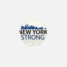 New York Strong - Skyline Mini Button (10 pack)