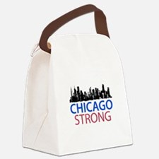Cute Chicago downtown Canvas Lunch Bag