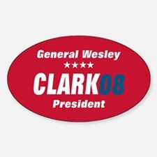 WESLEY CLARK PRESIDENT 08 Oval Decal