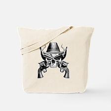 Cowboy Skull Tote Bag