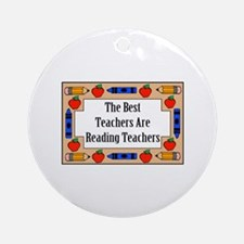 The Best Teachers Are Reading Teachers Ornament (R