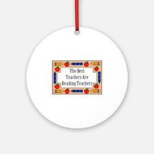 The Best Teachers Are Reading Teachers Ornament (R