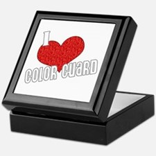 I Love Color Guard Keepsake Box