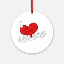 I Love Color Guard Ornament (Round)