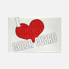I Love Color Guard Rectangle Magnet