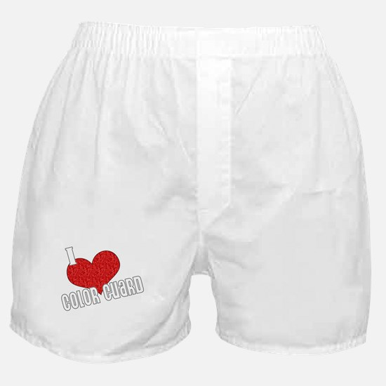 I Love Color Guard Boxer Shorts