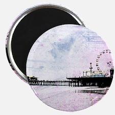 Santa Monica Pier Pink Grunge Magnet