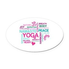 Yoga Inspirations Oval Car Magnet