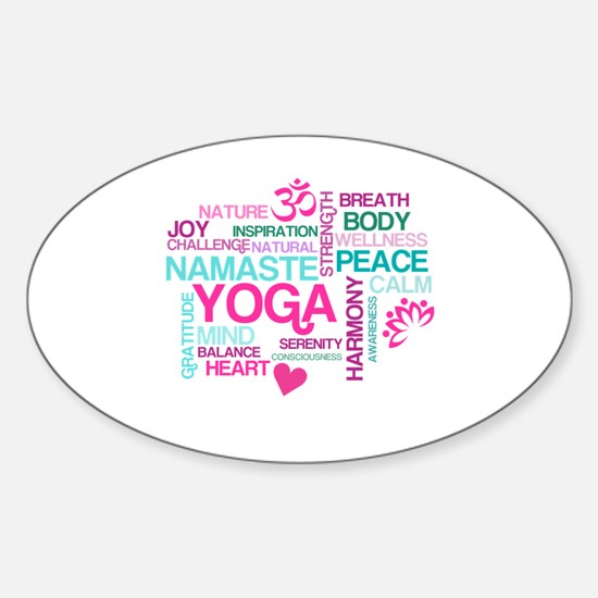 Yoga Inspirations Sticker (Oval)