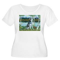 Alaskan Husky in the Birches T-Shirt