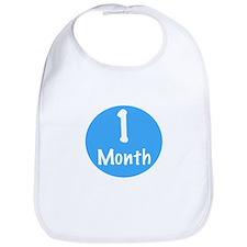 One Month Onesie Bib