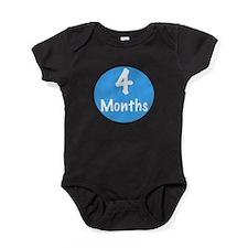 Four Months Onesie Baby Bodysuit