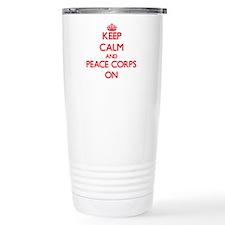 Keep Calm and Peace Cor Travel Coffee Mug