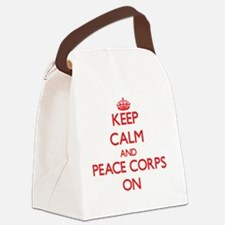 Keep Calm and Peace Corps ON Canvas Lunch Bag