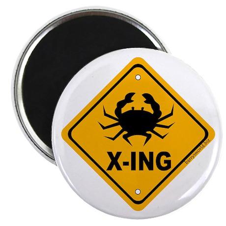 """Crab X-ing 2.25"""" Magnet (10 pack)"""