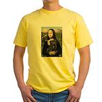 Mona's Black Pug Yellow T-Shirt