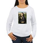 Mona's Black Pug Women's Long Sleeve T-Shirt