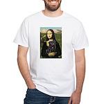 Mona's Black Pug White T-Shirt