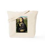 Mona's Black Pug Tote Bag