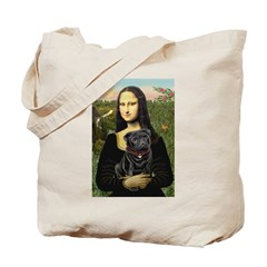 Mona's Black Pug Tote Bag